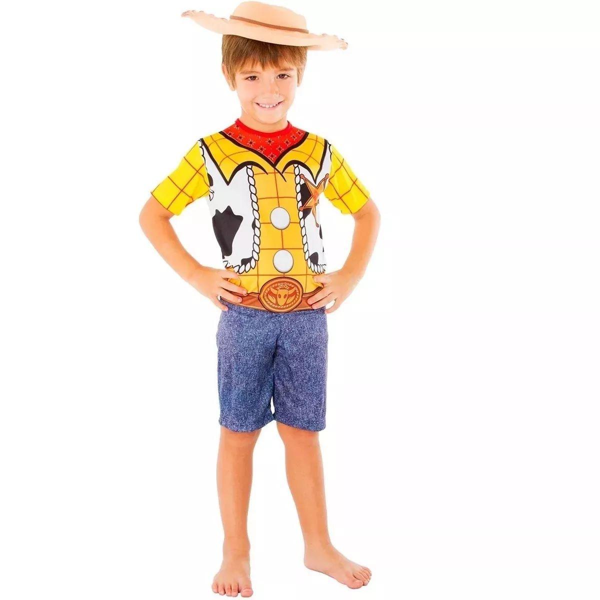 Fantasia Woody Infantil Toy Story Com Chapéu Original Disney Global 0434 eb3f0cf19de