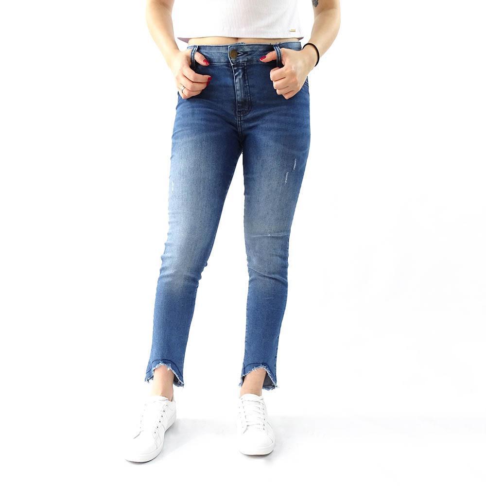 Calça Rzk  Jeans Stonada com Puido  - 1191