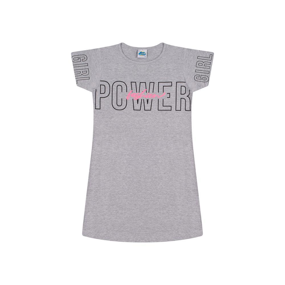 Vestido Bicho Bagunca Cotton Estampa Escrita Girl Power Fashion - 5100