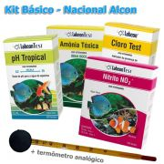 Kit de testes para análise de água em piscicultura, carcinicultura e aquaponia - Básico - Nacional Alcon