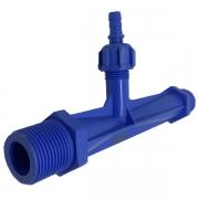 Venturi  com rosca de 1' - Azul aeração e irrigação Peixes e Plantas