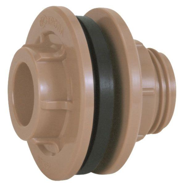 """Adaptador Flange com Anel - Krona - 50mm X1 1/2""""  - MixVidas - Sistemas Aquapônicos e Multitróficos"""