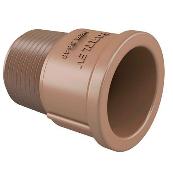 """Adaptador soldável curto - Fortlev - 50mm X 1 1/2""""  - MixVidas - Sistemas Aquapônicos e Multitróficos"""