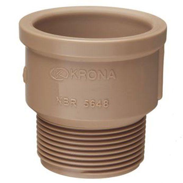 """Adaptador Soldável Curto - Krona - 50mm X 1 1/2""""  - MixVidas - Sistemas Aquapônicos e Multitróficos"""