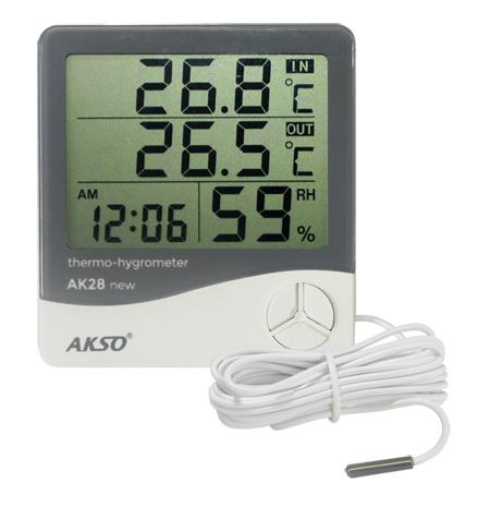 Termo - Higrômetro Digital AKSO AK28  - MixVidas - Sistemas Aquapônicos e Multitróficos