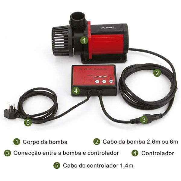 Bomba Submersa Ocean Tech 6.000 - AC - com controle de vazão - 220V  - MixVidas - Sistemas Aquapônicos e Multitróficos