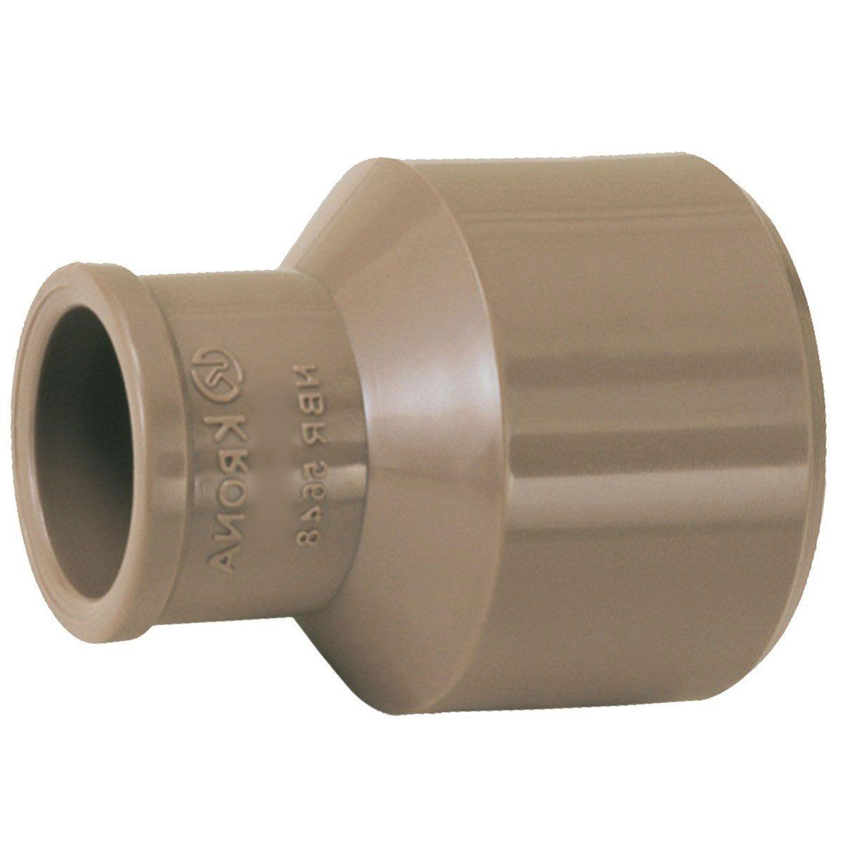 Bucha de Redução Soldável Longa - Krona - 60X25mm  - MixVidas - Sistemas Aquapônicos e Multitróficos
