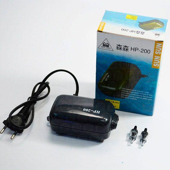 Compressor Eletromagnético -  HP-200 - 1,8 litros por minuto - 220v  - MixVidas - Sistemas Aquapônicos e Multitróficos