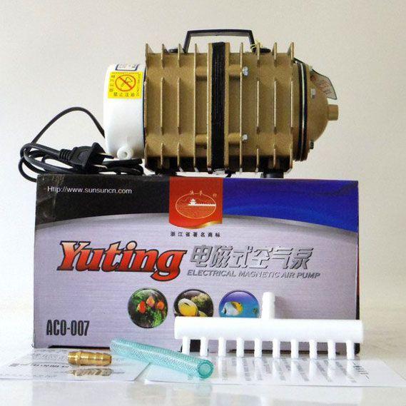 Compressor Eletromagnético Sun Sun -  ACO-007 - 90 litros por minuto - 220v  - MixVidas - Sistemas Aquapônicos e Multitróficos