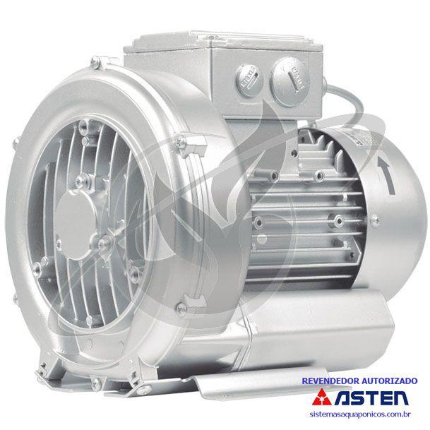 Compressor Radial - Soprador - monofásico - Asten - 0,30 CV - 1140 litros por minuto - mod060  - MixVidas - Sistemas Aquapônicos e Multitróficos