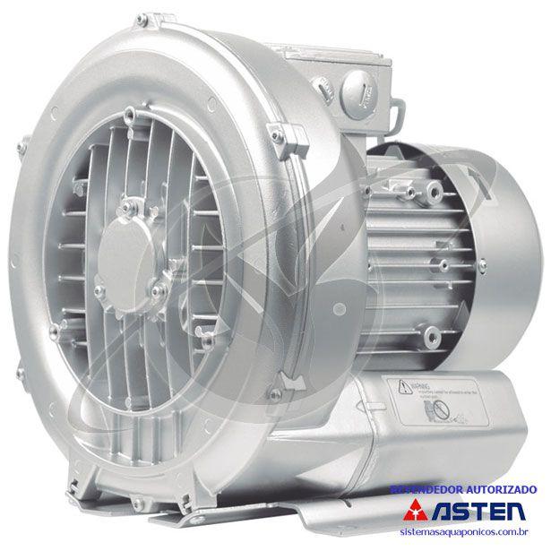 Compressor Radial - Soprador - monofásico - 1,74 CV - 3150 litros por minuto - mod053  - MixVidas - Sistemas Aquapônicos e Multitróficos