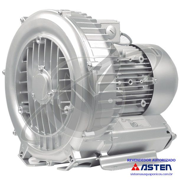 Compressor Radial - Soprador - monofásico - 2,35 CV - 4250 litros por minuto - mod054  - MixVidas - Sistemas Aquapônicos e Multitróficos