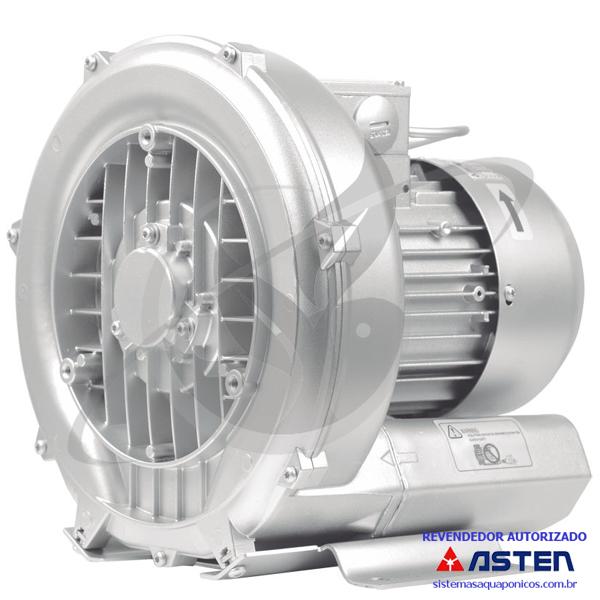 Compressor Radial - Soprador - monofásico - Asten - 1,10 CV - 2000 litros por minuto - mod026  - MixVidas - Sistemas Aquapônicos e Multitróficos
