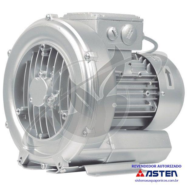 Compressor Radial - Soprador - trifásico - 1,74 CV - 3500 litros por minuto - mod039  - MixVidas - Sistemas Aquapônicos e Multitróficos