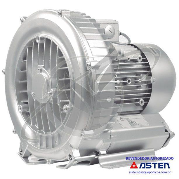 Compressor Radial - Soprador - trifásico - 2,35 CV - 4250 litros por minuto - mod051  - MixVidas - Sistemas Aquapônicos e Multitróficos