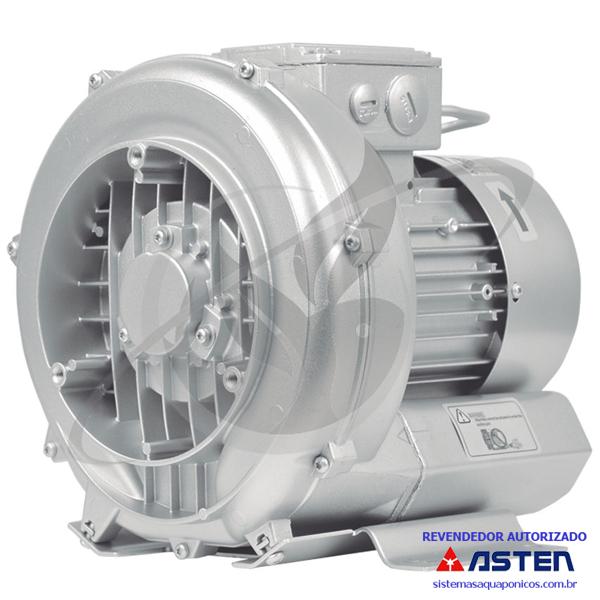 Compressor Radial - Soprador - trifásico - Asten - 0,67 CV - 1630 litros por minuto - mod030  - MixVidas - Sistemas Aquapônicos e Multitróficos