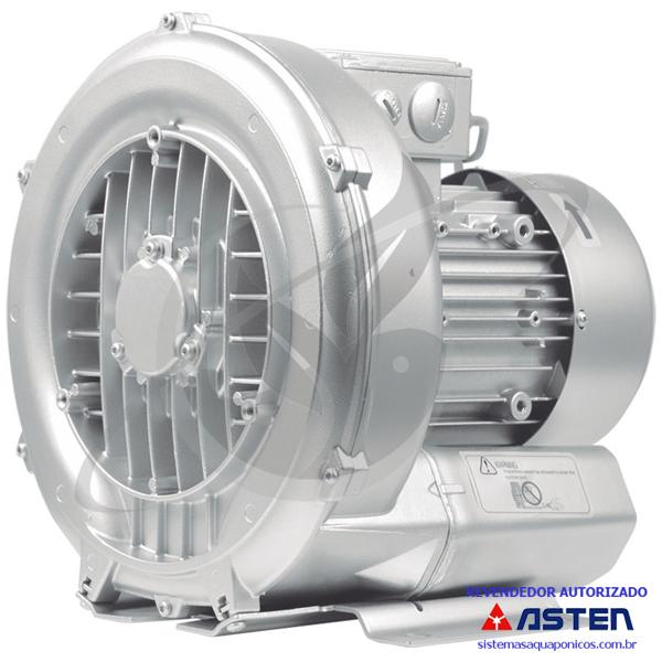 Compressor Radial - Soprador - trifásico - Asten - 0,84 CV - 950 litros por minuto - mod032  - MixVidas - Sistemas Aquapônicos e Multitróficos