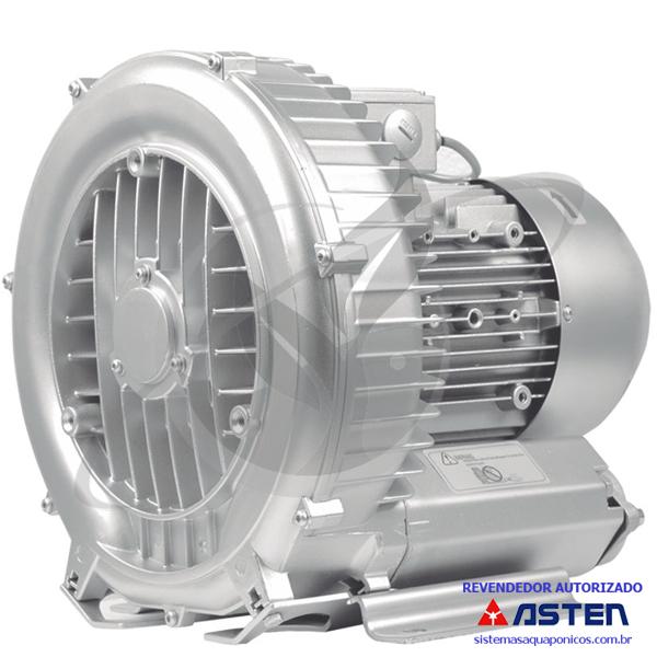 Compressor Radial - Soprador - trifásico - Asten - 3,42 CV - 5500 litros por minuto - mod042  - MixVidas - Sistemas Aquapônicos e Multitróficos