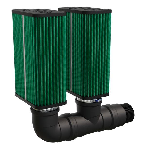 """Kit filtro MixLife 2008 - Duplo estágio - para compressores de entrada 2""""  - MixVidas - Sistemas Aquapônicos e Multitróficos"""
