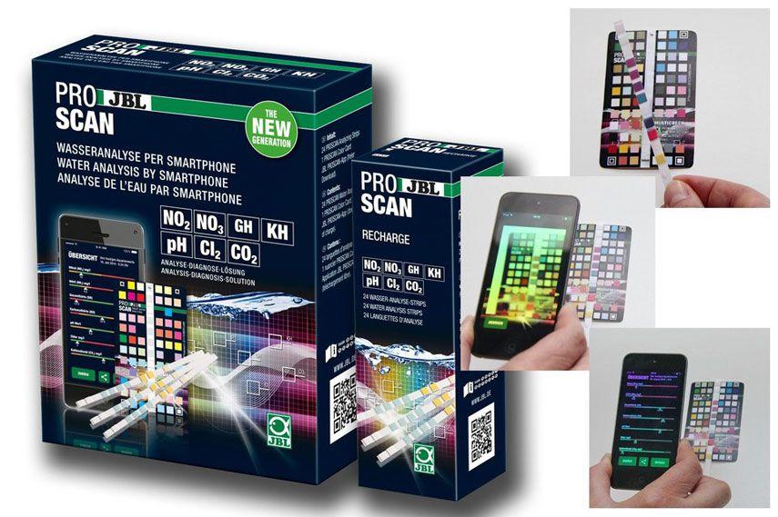 Proscan Teste em Fita 7 em 1 - PH/KH/GH/NO2/NO3/CL2/CO2 - JBL - Água Doce  - MixVidas - Sistemas Aquapônicos e Multitróficos