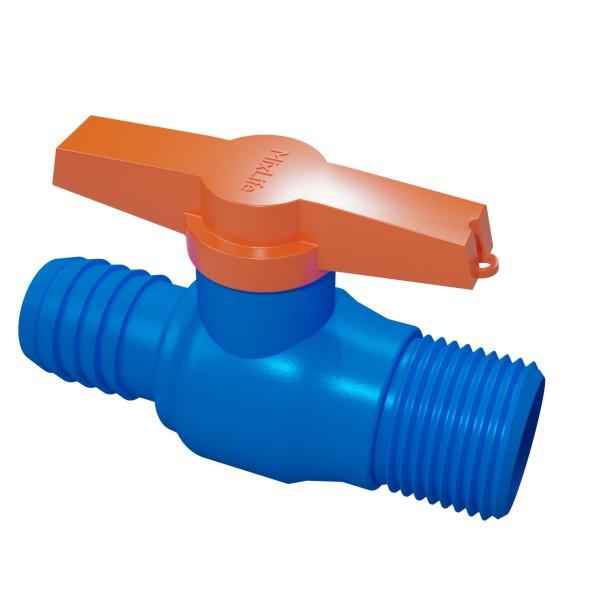 Registro de Aeração - azul - rosca 3/4 para mangueira 3/4  - MixVidas - Sistemas Aquapônicos e Multitróficos