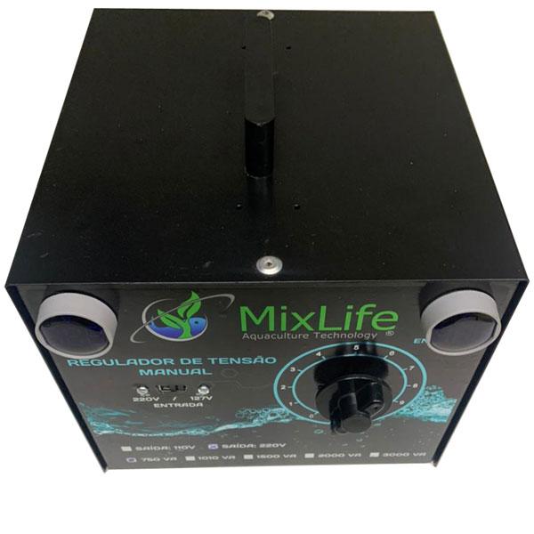 Regulador de Tensão Manual 750W - MixLife - Entrada Bivolt e saída fixa 220V  - MixVidas - Sistemas Aquapônicos e Multitróficos