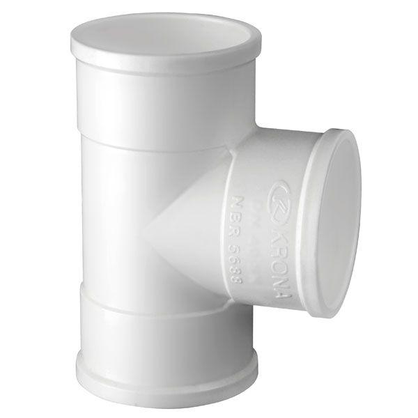 TE Soldável para Esgoto 100mm - Krona  - MixVidas - Sistemas Aquapônicos e Multitróficos