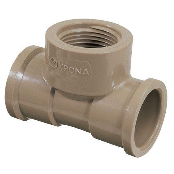 "TE LR - Luva Rosca - Krona - 25mm X 1/2""  - MixVidas - Sistemas Aquapônicos e Multitróficos"
