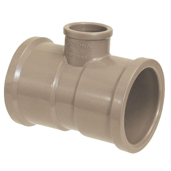 TEE Soldável com Redução - Krona - 40X25mm  - MixVidas - Sistemas Aquapônicos e Multitróficos