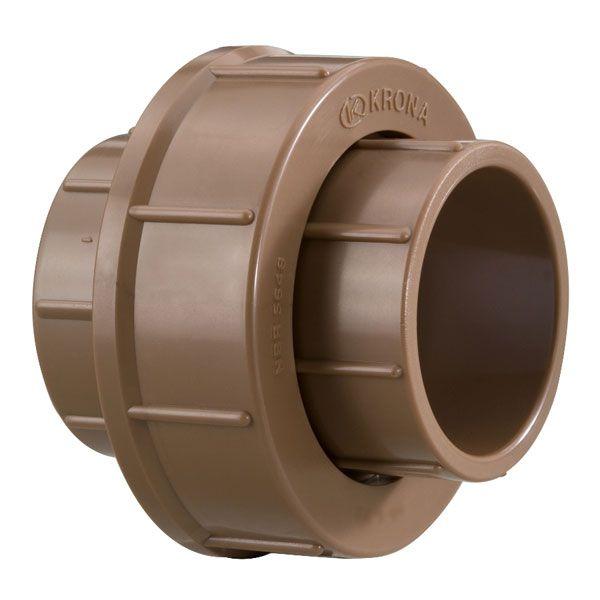 União Soldável - Krona - 40mm  - MixVidas - Sistemas Aquapônicos e Multitróficos
