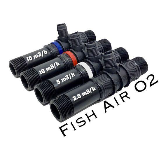 Venturi Fish Air O2 - Preto - (3,5m³/h) - Piscicultura  - MixVidas - Sistemas Aquapônicos e Multitróficos