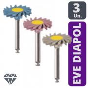 KIT Polidor EVE DIAPOL TWIST CA (Cinza/Rosa/Azul)