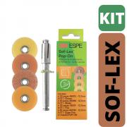 KIT Sof-Lex Pop-On Laranja (120 Discos + MANDRIL)