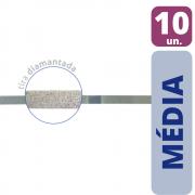 Tira de Lixa Diamantada 2,5mm Média - 10 unid