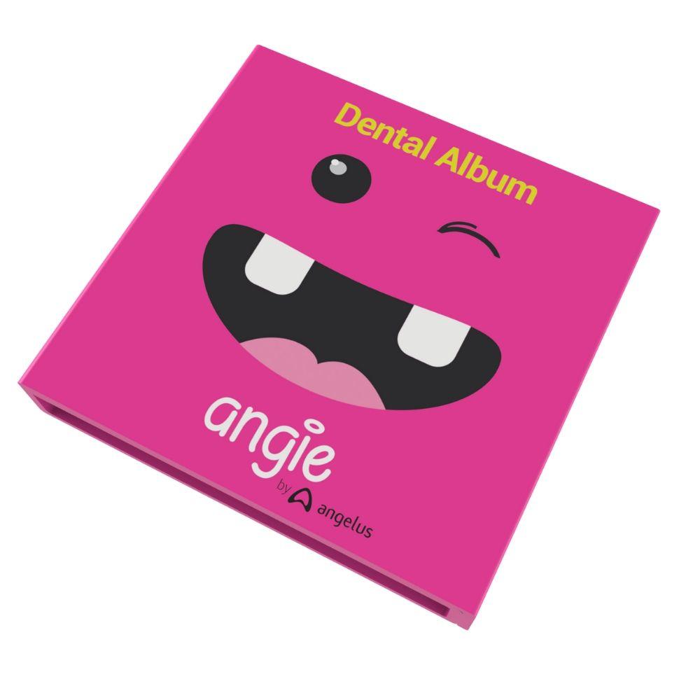 Angie - Album e estojo para dente-de-leite - ROSA