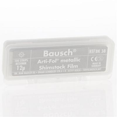 BK38 - Folha metálica c/12 micras SEM PIGMENTO - 100 tiras