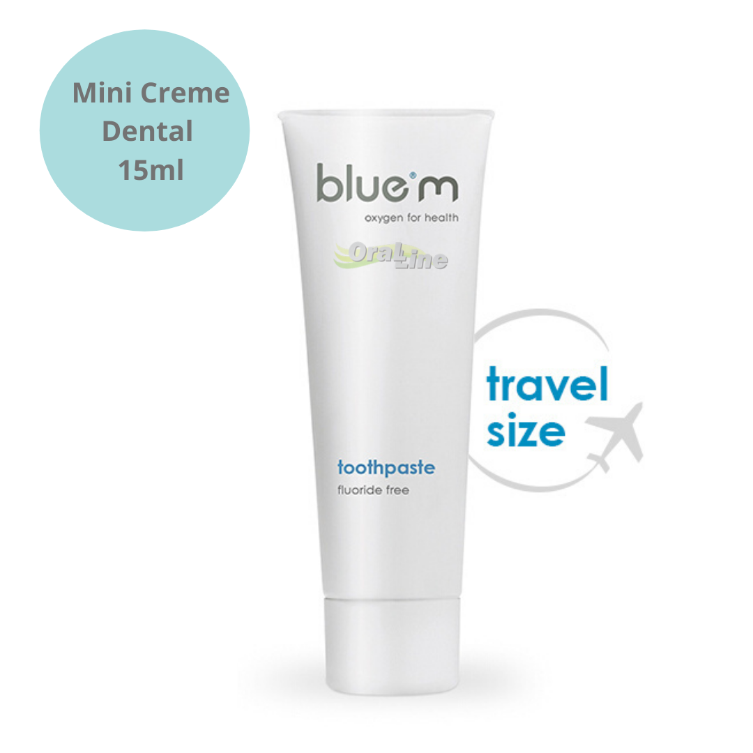 BLUE M - 5 Mini Kits (Creme dental 15 ml + Enxaguatório 50 ml)
