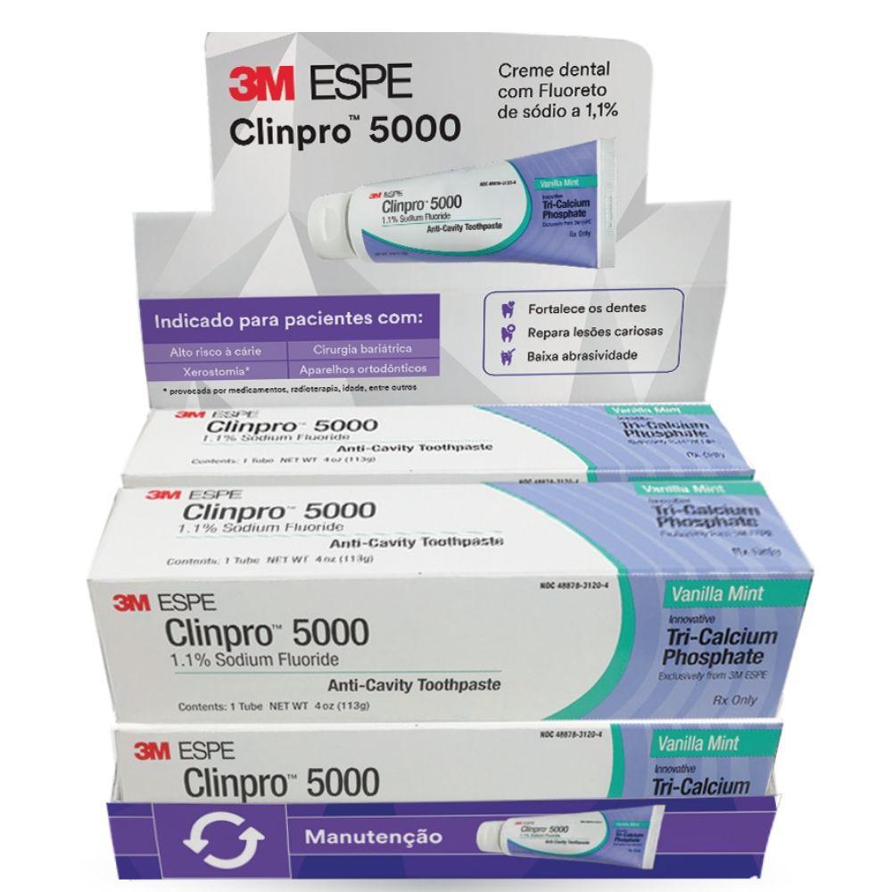 Creme Dental Clinpro 5000 - Combo