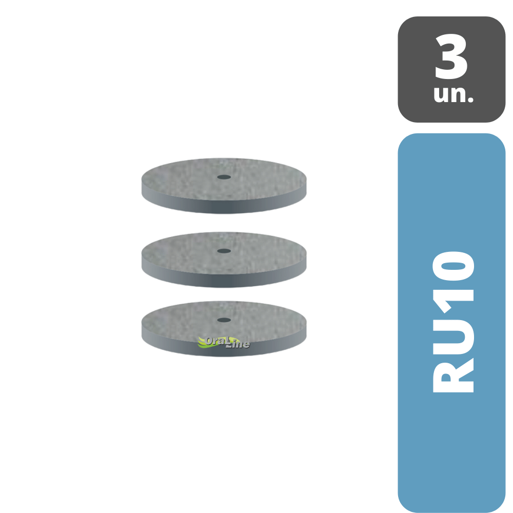 Disco/Roda Polidor Cinza PM   DHPRO  Desgaste Grosso   3 unidades