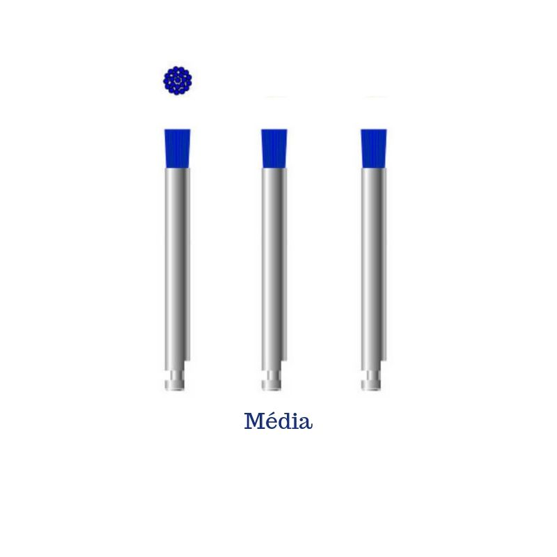 Escova Microtuff - Azul - Média - 3 Unidades