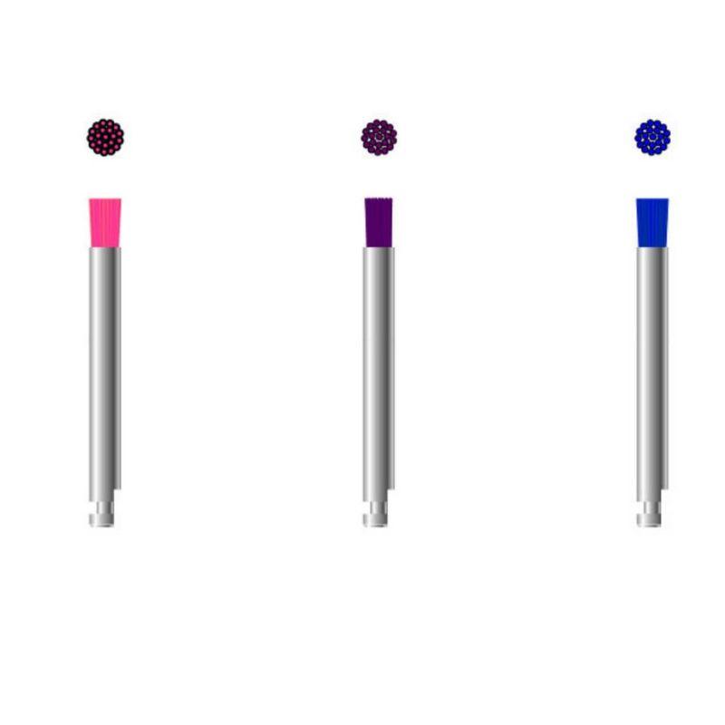 Escova Microtuff - Rosa - Extra Macia - 3 Unidades