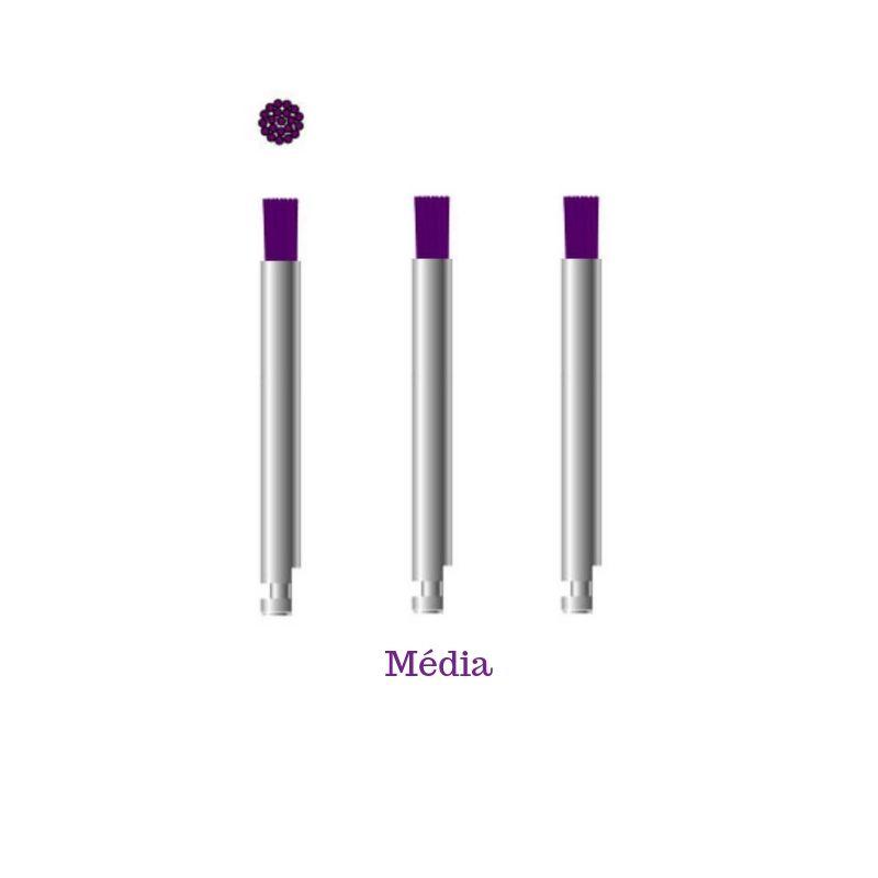 Escova Microtuff - Roxa - Média - 3 unidades