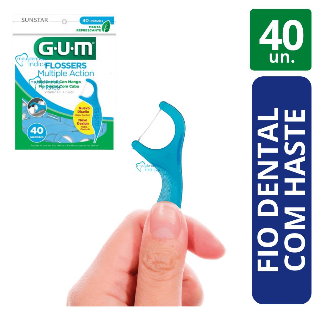 Flosser - Fio Dental com Cabo - Multiple Action (GUM) 40 Un