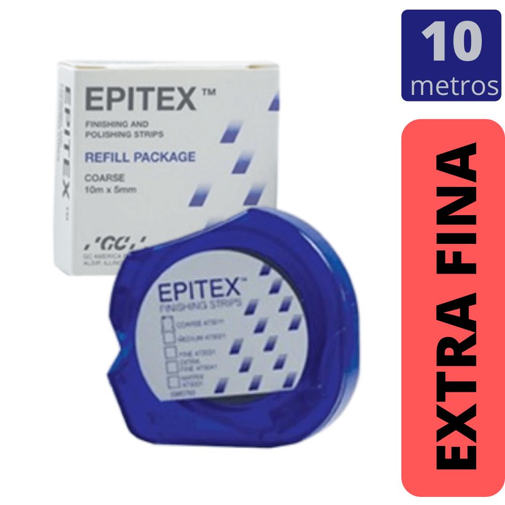 GC - Tira de Lixa EPITEX REFIL - EXTRA FINA - VERMELHA 10mts