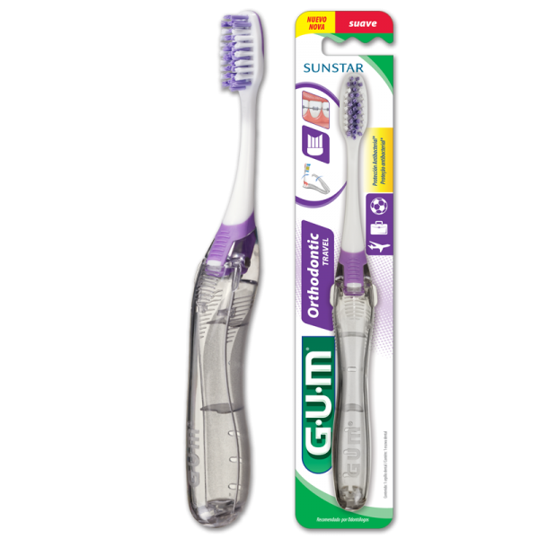 Gum - Escova Dental Ortodôntica para viagem