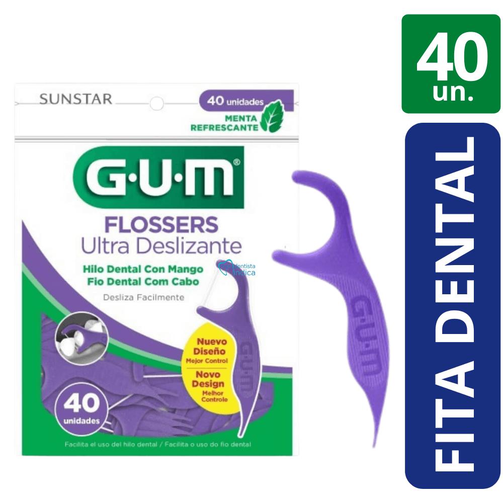 GUM - Flosser Roxo - 40 Unidades