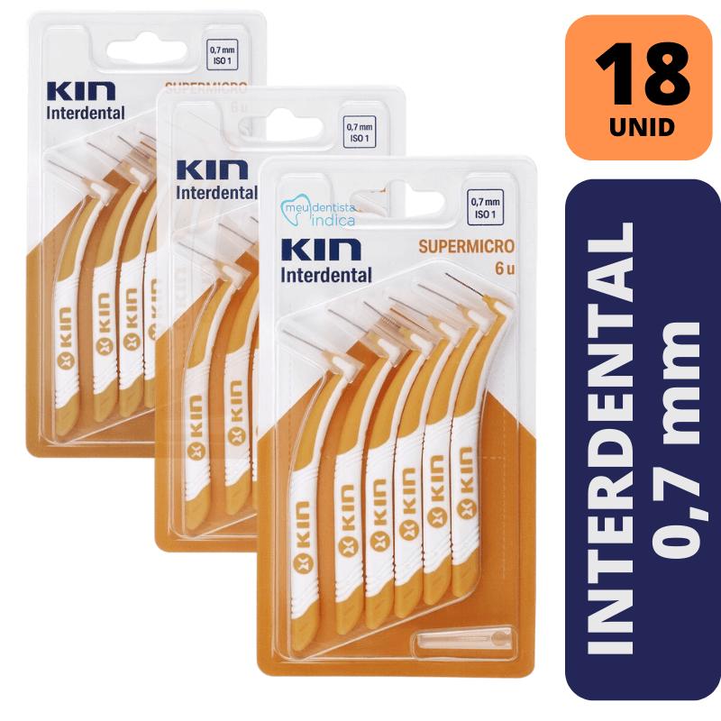 KIN - KIT 3X INTERDENTAL SUPERMICRO 0,7 MM - LARANJA