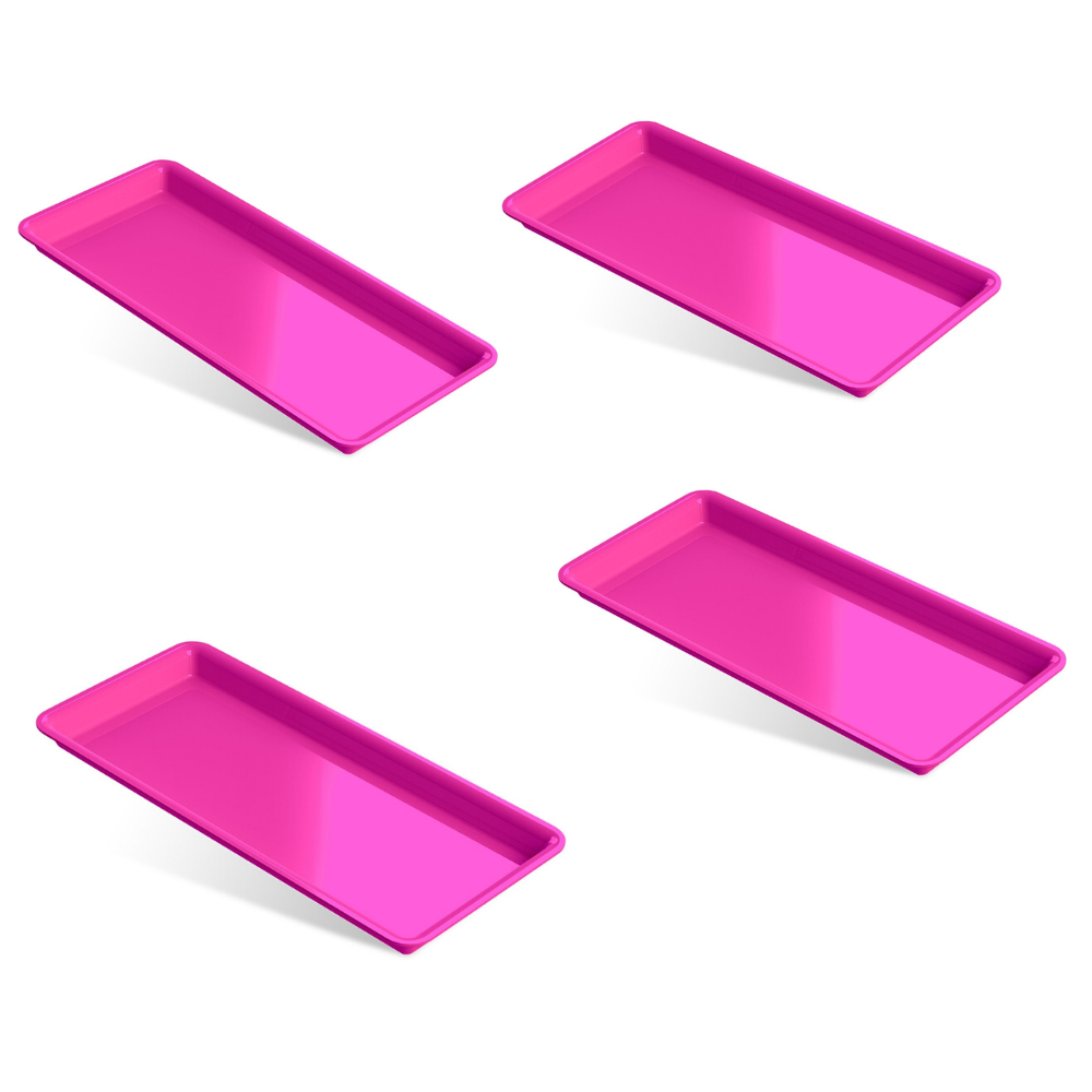 KIT Bandejas Para Instrumentos - Autoclavável (4 unidades Rosa )