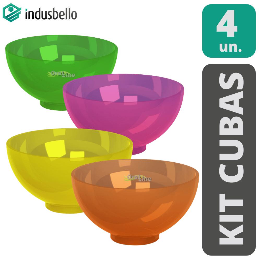 Kit Grau/Cuba de borracha para alginato (4 Unidades)