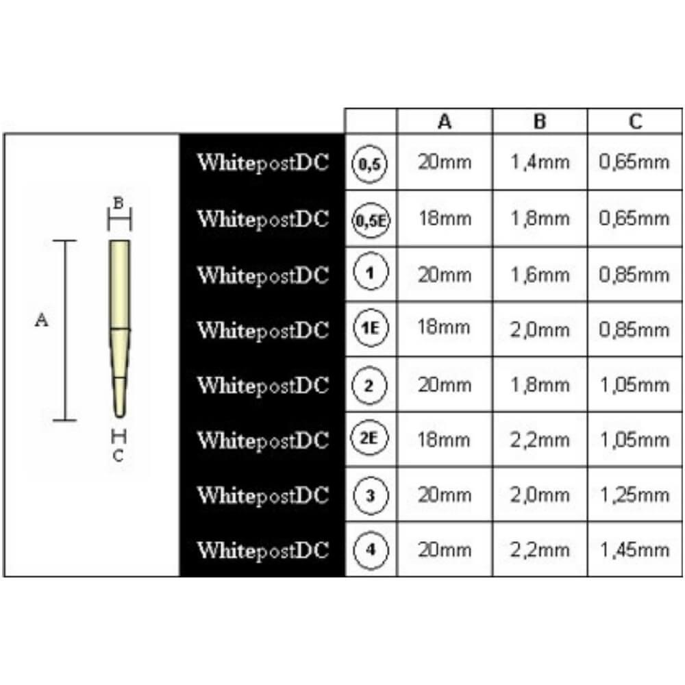 Kit WhitePost DCE - 5 pinos + broca